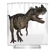 Ceratosaurus Dinosaur Roaring Shower Curtain