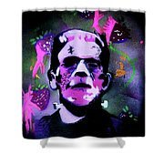 Cereal Killers - Frankenberry Shower Curtain