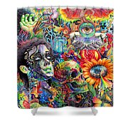 Cerebral Dysfunction Shower Curtain by Callie Fink