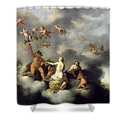Ceres Bacchus Venus And Cupid  Shower Curtain
