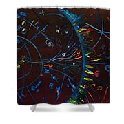 Cern Atomic Collision  Physics And Colliding Particles Shower Curtain