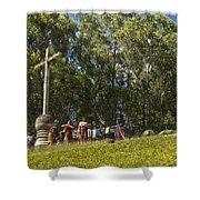 Cerro De La Cruz - Antigua Guatemala Hdr Iv Shower Curtain