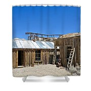 Cerro Gordo Assay Building Shower Curtain