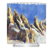 Cerro Torre, Patagonia Shower Curtain