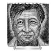 Cesar El Santo Shower Curtain