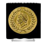 Julius Cesar Roman Coin Shower Curtain