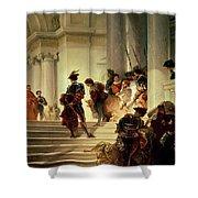Cesare Borgia Leaving The Vatican Shower Curtain by Giuseppe Lorenzo Gatteri