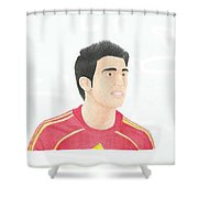 Cesc Fabregas Shower Curtain by Toni Jaso