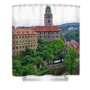 Cesky Krumlov Castle Complex In The Czech Republic Shower Curtain