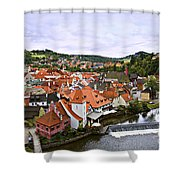 Cesky Krumlov Overview 2 Shower Curtain