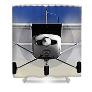 Cessna 152 Flying High Shower Curtain