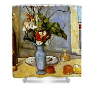 Cezanne: Blue Vase, 1885-87 Shower Curtain