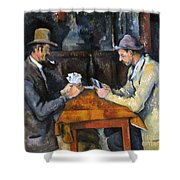 Cezanne: Card Player, C1892 Shower Curtain