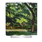 Cezanne: Etang, 1877 Shower Curtain