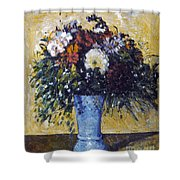 Cezanne: Flowers, 1873-75 Shower Curtain