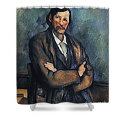 Cezanne: Man, C1899 Shower Curtain