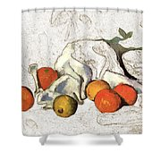 Cezanne Oranges Digital Art Shower Curtain