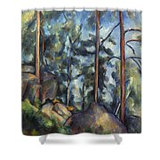 Cezanne: Pines, 1896-99 Shower Curtain