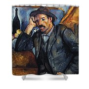 Cezanne: Pipe Smoker, 1900 Shower Curtain