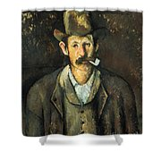 Cezanne: Pipe Smoker, C1892 Shower Curtain