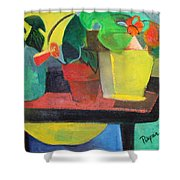 Cezanne Potting Stand Shower Curtain