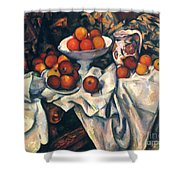 Cezanne: Still Life, C1899 Shower Curtain