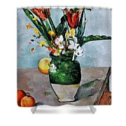 Cezanne: Tulips, 1890-92 Shower Curtain