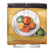 Cezannes Fruit Bowl Shower Curtain