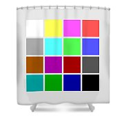 Cga Colors Shower Curtain