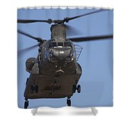 Ch-47 Chinook Flies Over Playas Shower Curtain