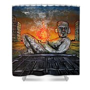 Chacmool Shower Curtain