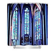 Chagall Windows In St Stephen's Church 1   Shower Curtain