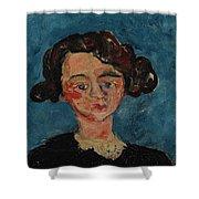 Chaim Soutine 1893 - 1943 Portrait De Jeune Fille Paulette Jourdain Shower Curtain