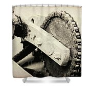 Chain And Gear Shower Curtain
