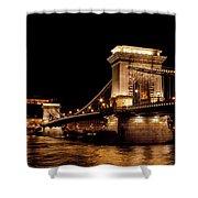 Chain Bridge - Budapest Shower Curtain