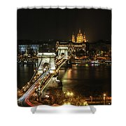 Chain Bridge Shower Curtain