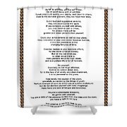 Chain Link Desiderata Poem Shower Curtain