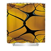 Chain Link Fractal Shower Curtain