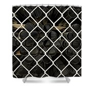 Chain Link Pipe Shower Curtain