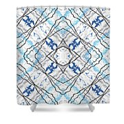Chain Of Clouds Pattern Shower Curtain