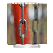 Chains Abstract 3 Shower Curtain