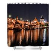 Chains Bridge In Prague Shower Curtain
