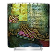 Chains, Poetry And Spirits Shower Curtain