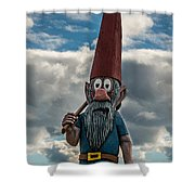 Chainsaw Art Gnome Shower Curtain