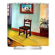 Chair And Pears Interior Shower Curtain