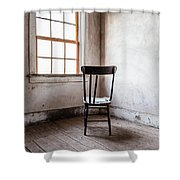 Chair By The Window Grafton Ghost Town Shower Curtain