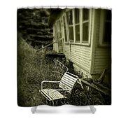 Chair In Grass Shower Curtain