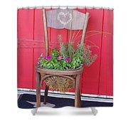 Chair Planter Shower Curtain