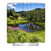 Chairi Lake Shower Curtain