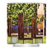 Chairs At The Gate Shower Curtain